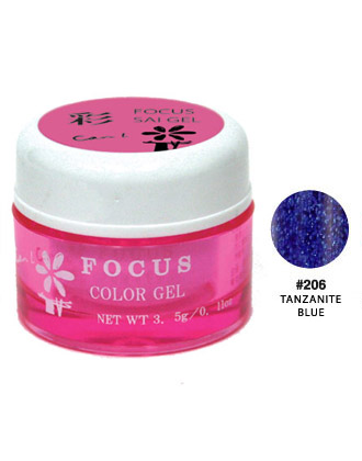 【廃番】キャンアイ Can I FOCUS SAI GEL #206 TANZANITE BLUE 3.5g